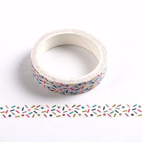 Masking tape 5m confettis colorés