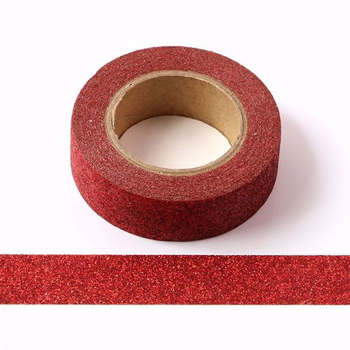 Masking tape paillettes rouge G057