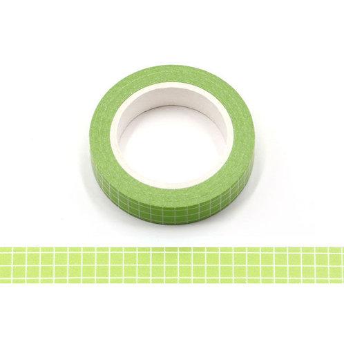 Masking tape grille planner agenda vert  10mm x 10 m