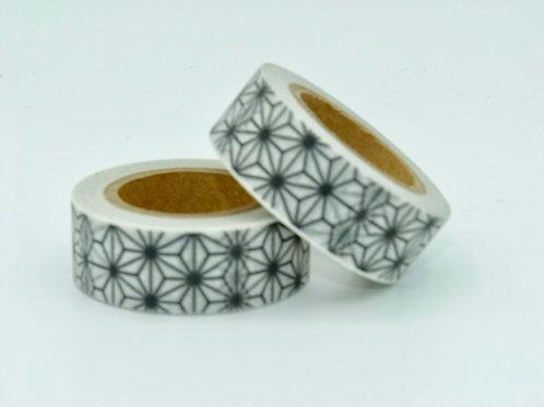 W023 - Masking tape fleurs noires