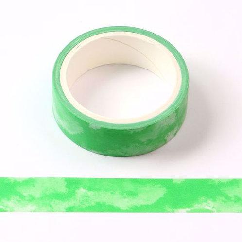 Masking tape vert motif aquarelle 5m W461