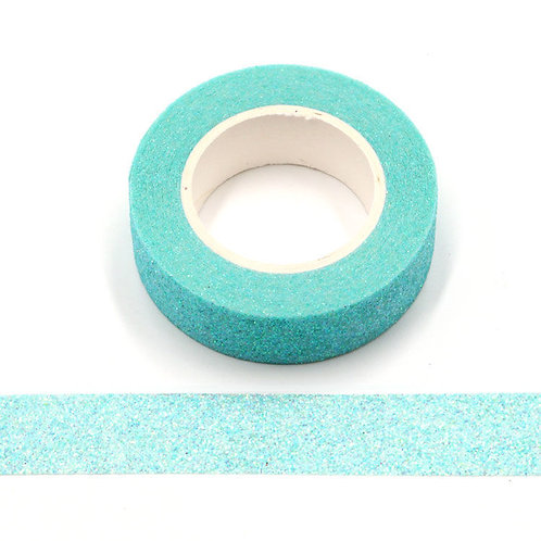 Masking tape paillettes bleu clair glitter  G080