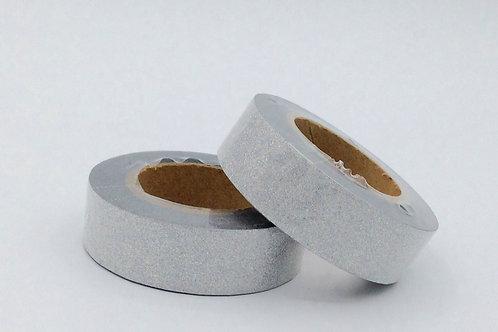 G007 - Masking tape paillettes argentées glitter