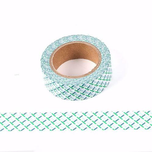Masking tape 10mT vert et bleu