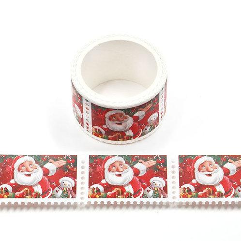W518 - Masking tape timbre prédécoupés Père Noël