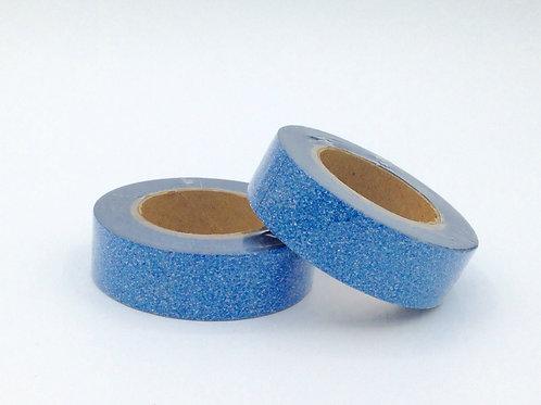 G024 - Masking tape paillettes bleu glitter