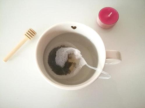 20 Filtres à thé refermables ronds - tissu biodégradable