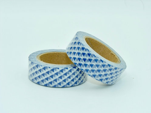 W177 -  Masking tape triangles bleus design  15mm x