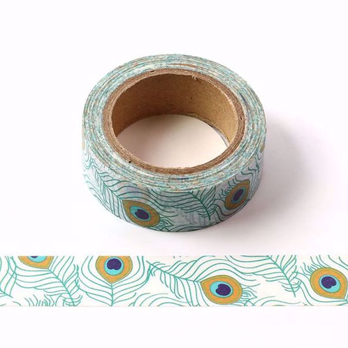 W413 - Masking tape Plumes de paon