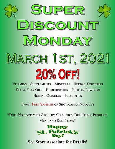 Super Discount Monday March 2021 Picture