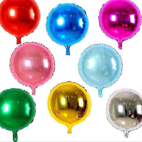 Ballon mylar géant rond  45 cm  hélium or argent rose bleu rouge noir blanc