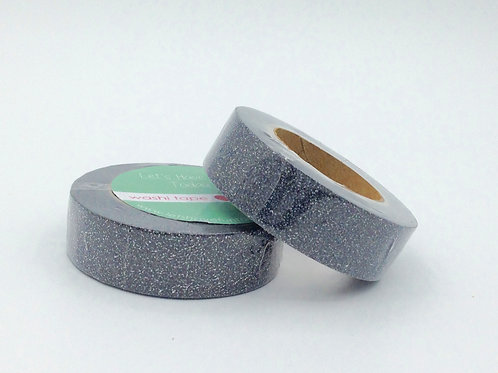 G026 - Masking tape paillettes noir glitter