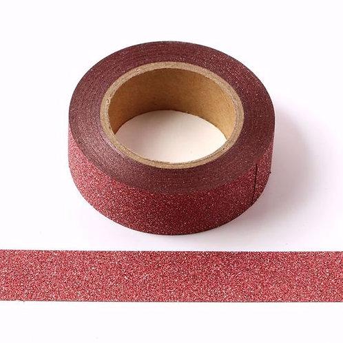 Masking tape 15 mm Paillettes rouge glitter