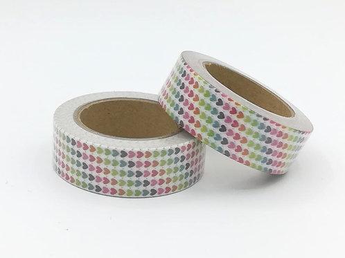 Masking tape  coeurs colorés