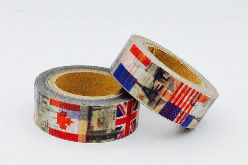 W305 - Masking tape drapeaux US UK