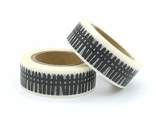 W338 - masking tape haies Noir/blanc