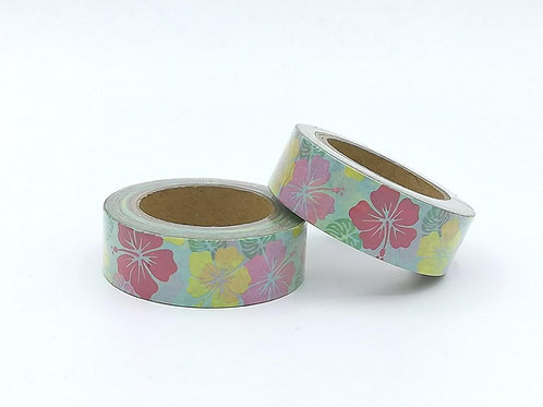 W375 -  Masking tape fleurs jungle I jungle flower washi tape