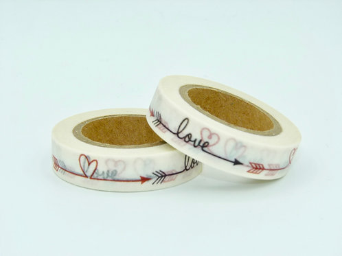 W132-  Masking tape love 10mm