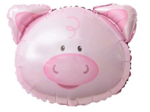 Ballon mylar géant cochon - remplissage hélium