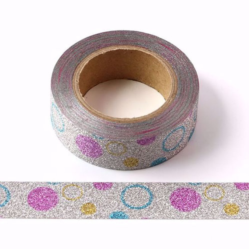 G050 - Masking tape paillettes glitter pois acidulés