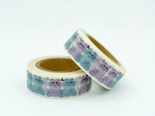 W136 - Masking tape oursons colorés
