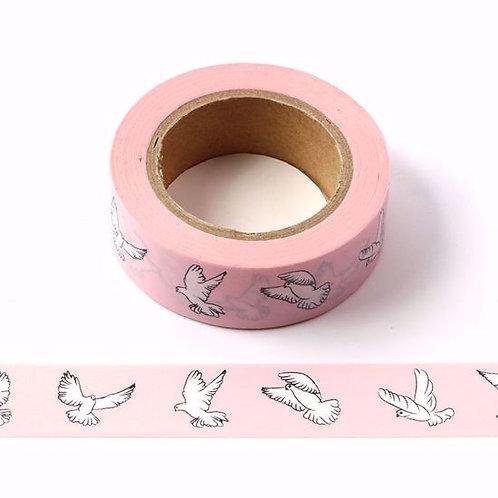 Masking tape rose colombe