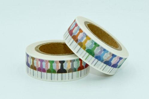 W239 - Masking tape blanc épingles colorées