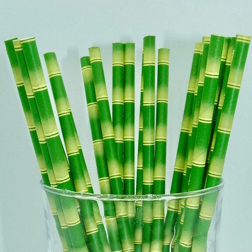 25 pailles papier bambous