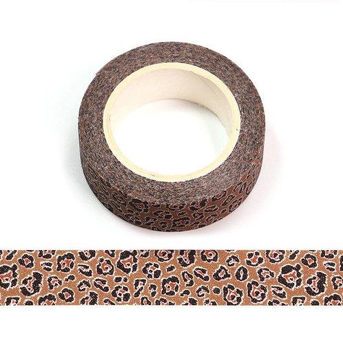 Masking tape paillettes léopard 15mm x 5m