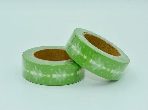Masking tape vert sapin blanc 15mm x 10m