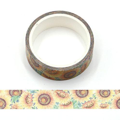 Masking tape fleurs de tournesol 15mm x 5m