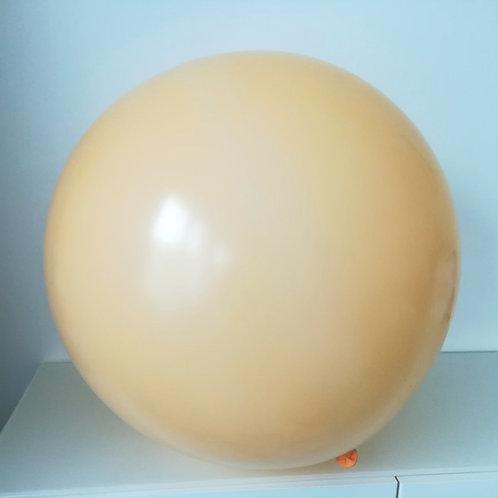 Ballon latex 90 cm rond blush pêche