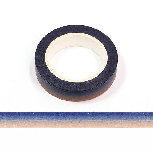Masking tape motif plage de nuit 10mm x 10m