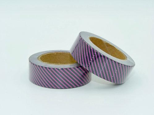 W096 - rayures violettes et noires