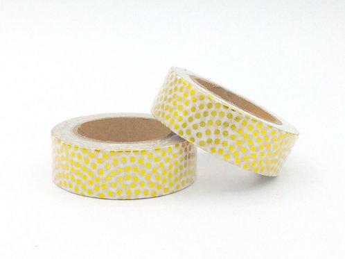 F091- Masking tape foil motif designpois dorés
