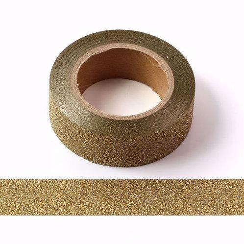 Masking tape paillettes dorées 15 mm x10m