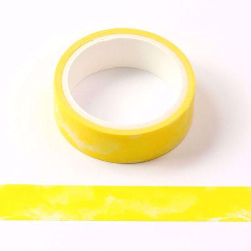 Masking tape jaune motif aquarelle 5m