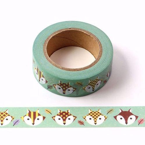W342-  Masking tape renard enfant  I Fox washi tape