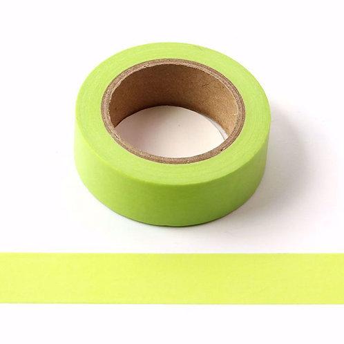 Masking tape vert citron couleur uni basique  design  15mm x 10m