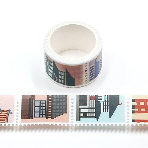 Masking tape  temples timbres prédécoupés japonais colorés 25mm x 3m