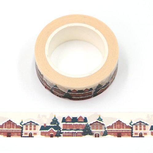 Masking tape 15 mm motif village montagnard