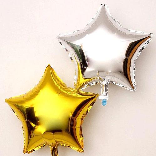 Ballon aluminium étoile  doré  45 cm - remplissage hélium