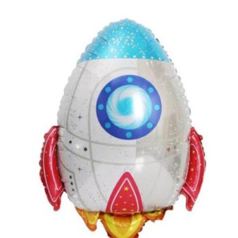 Ballon aluminium  mylar  fusée - remplissage hélium