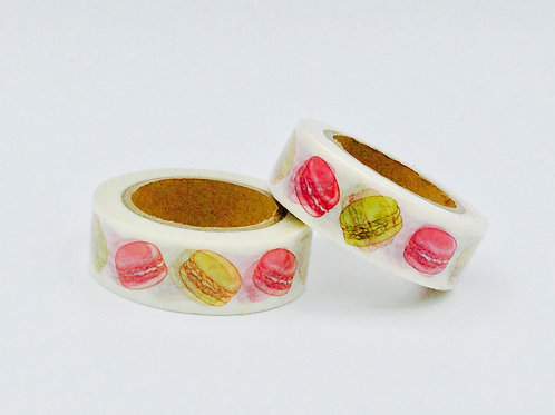 W340-  Masking tape macarons design  15mm