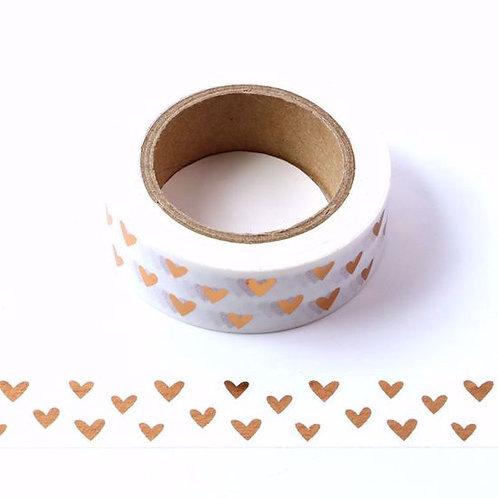 Masking tape foil coeurs cuivre15mm x  10m