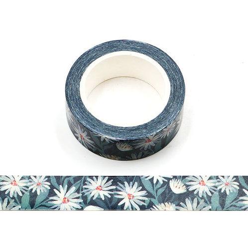 W513 - Masking tape 10m paquerettes bleues