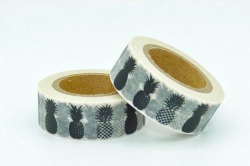 W030 - Masking tape ananas noirs