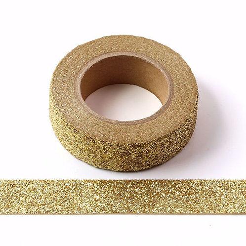 Masking tape Paillettes glitter  doré brillant