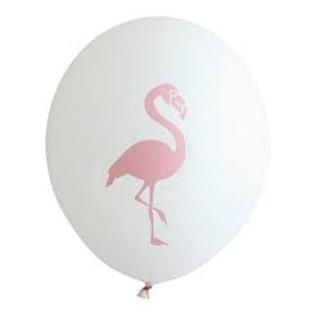 10 Ballons latex blanc Flamant Rose 30cm  fête soirée evjf mariage jungle