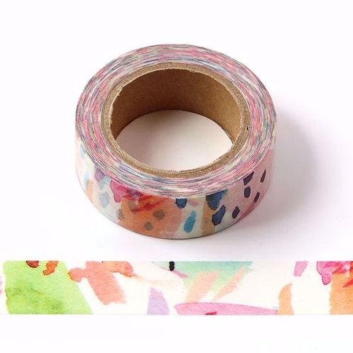 W419 - Masking tape motif floral tropical